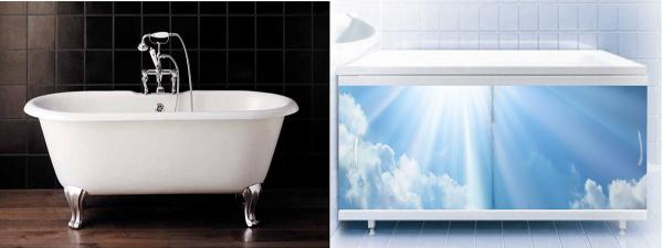 экран под ванну на ножках