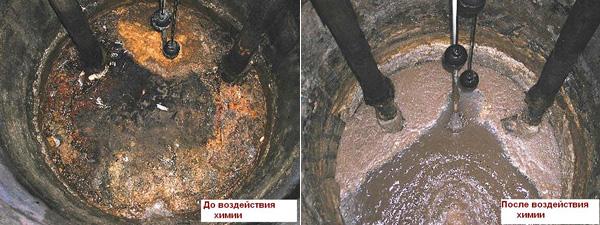 сливная яма до и после применения химических препаратов сливная яма до и после применения химических препаратов2