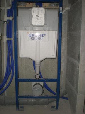 подключение подвесного унитаза к канализации