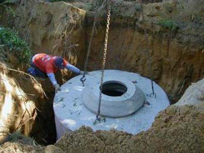 монтаж бетонной крышки