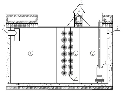 схема устройства септик Гуано