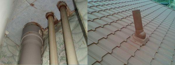 центральный стояк выступает за пределы крыши3