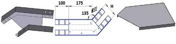 лоток угловой ЛМс-135Г